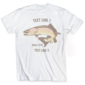 Vintage Fly Fishing T-Shirt - Personalized Brown Trout