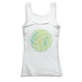 Volleyball Vintage Fitted Tank Top - Watercolor Volleyball