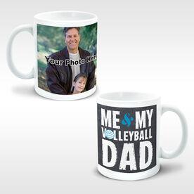 Volleyball Ceramic Mug Me & My Dad Custom Photo