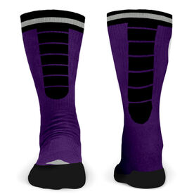 Customized Printed Mid Calf Team Socks Velocity