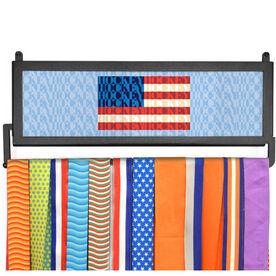 AthletesWALL Medal Display - American Flag Mosaic