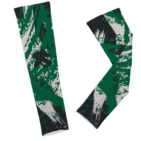 Hockey Printed Arm Sleeves Hockey Grunge Silhouette Goalie