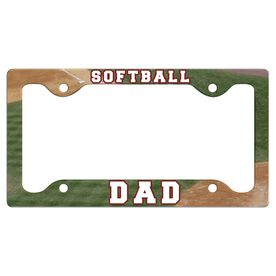 Softball Dad License Plate Holder