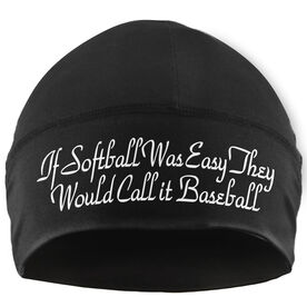 Beanie Performance Hat - If Softball Was Easy They Would Call It Baseball (White Lettering)