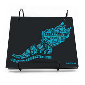 BibFOLIO® Race Bib Album - Inspirational Words Winged Foot