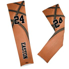 Basketball Printed Arm Sleeves Basketball Texture