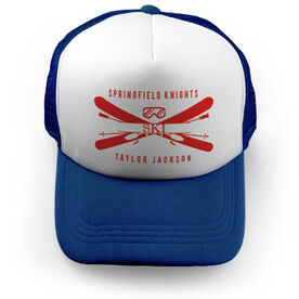 Skiing Trucker Hat - Personalized Crest