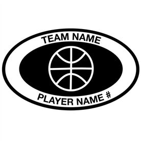Personalized Basketball Vinyl Decal