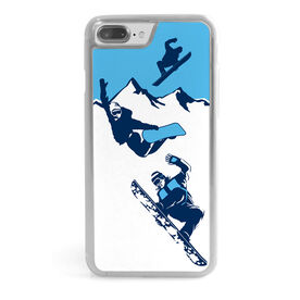 Snowboarding iPhone® Case - Airborne Snowboarders