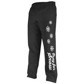 Skiing & Snowboarding Fleece Sweatpants - Pray For Snow