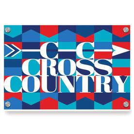 Cross Country Metal Wall Art Panel - Cross Country Mosaic