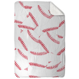 Baseball Sherpa Fleece Blanket You're Surrounded