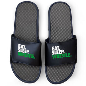 Wrestling Navy Slide Sandals - Eat Sleep Wrestle
