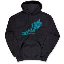 Cross Country Standard Sweatshirt - Winged Foot Inspirational Words