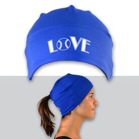 Performance Ponytail Cuff Hat Love Softball