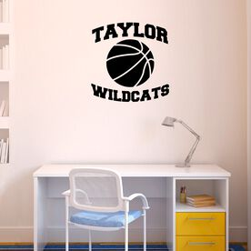 Personalized Basketball with Team Name Removable ChalkTalkGraphix Wall Decal