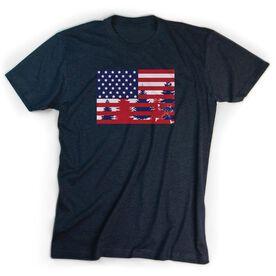 Guys Lacrosse Short Sleeve T-Shirt - Star Spangled Laxer