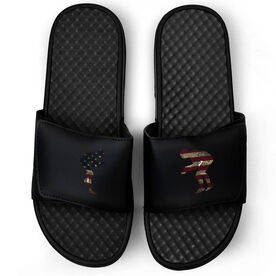 Wrestling Black Slide Sandals - Grand Old Wrestling