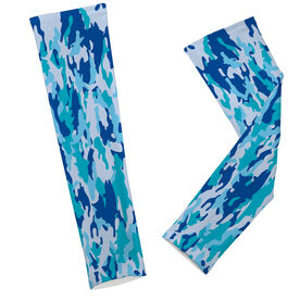 Fly Fishing Printed Arm Sleeves Fly Fishing Camo with Fish