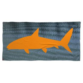 Fly Fishing Beach Towel Bonefish with Silhouette