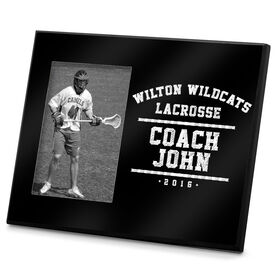 Lacrosse Personalized Photo Frame Team Coach Year