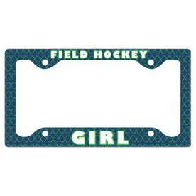 Field Hockey Girl License Plate Holder