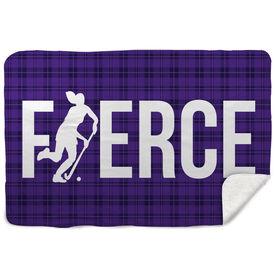 Field Hockey Sherpa Fleece Blanket Fierce Field Hockey Girl