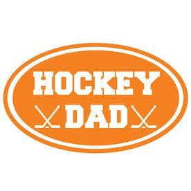 Hockey Dad Oval Vinyl Decal