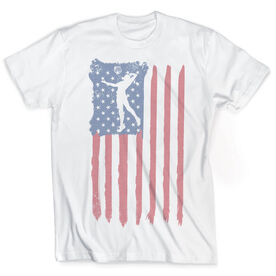 Vintage Volleyball T-Shirt - American Flag