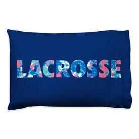 Girls Lacrosse Pillowcase - Floral