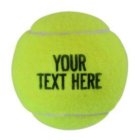 Custom Text Tennis Ball