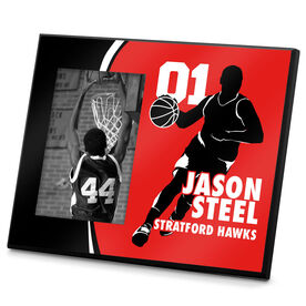 Basketball Photo Frame Personalized Basketball Guy With Big Number Name
