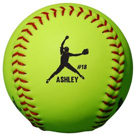 Personalized Softball - Pitcher with Name and Number