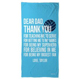 Volleyball Beach Towel Dear Dad