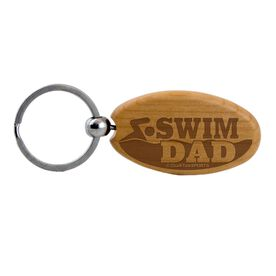 Swim Dad Maple Key Chain