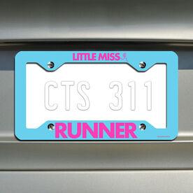 Little Miss Runner License Plate Holder