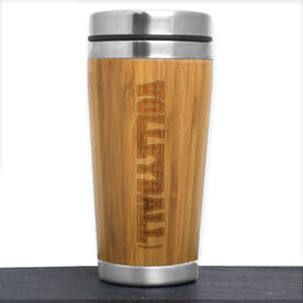 Bamboo Travel Tumbler Volleyball