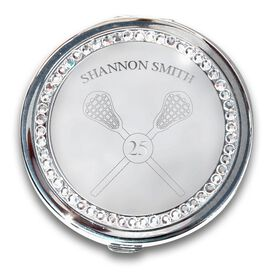 Silver Personalized Lacrosse Compact Mirror
