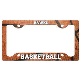 Custom Basketball Team License Plate Holders