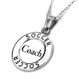 Soccer Circle Necklace Coach