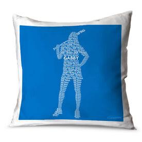 Softball Throw Pillow Personalized Softball Words Batter