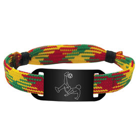 Soccer Lace Bracelet Guy Player Adjustable Sport Lace Bracelet