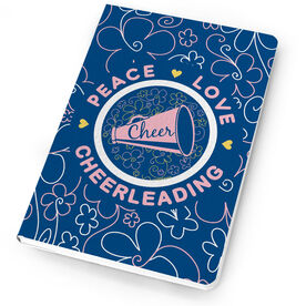 Cheerleading Notebook Peace Love Cheerleading Flowers