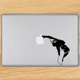 Snowboarding Removable ChalkTalkGraphix Laptop Decal - Snowboarder