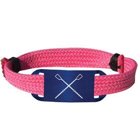 Crew Lace Bracelet Crossed Oars Adjustable Sport Lace Bracelet