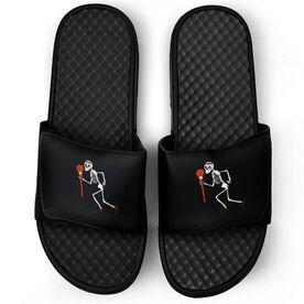 Lacrosse Black Slide Sandals - Skeleton
