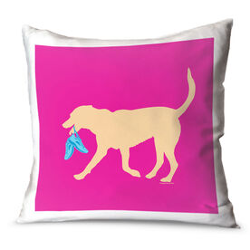 Running Throw Pillow Runner Dog
