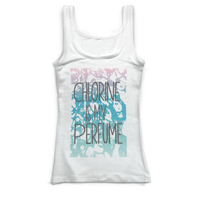 Swimming Vintage Fitted Tank Top - Chlorine Is My Perfume