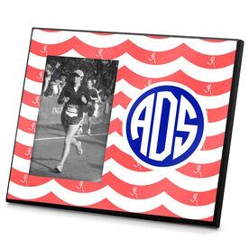 Running Photo Frame Monogrammed Run Girl Waves
