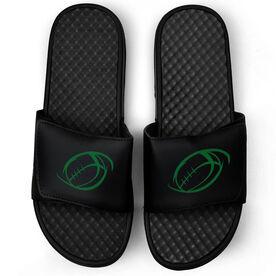 Football Black Slide Sandals - Spiral